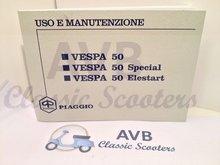 Libretto uso e manutenzione Vespa 50 origineel Piaggio