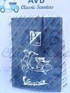 Kentekenbewijshoes blauw origineel Piaggio