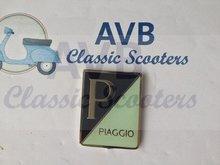 Logo Piaggio rechthoekig embleem emaille groot Largeframe