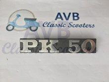 """Logo """"PK 50"""" voor Vespa PK50"""