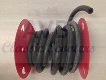 Benzineslang 7mm zwart rubber, gewapend, per meter